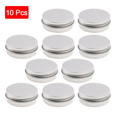 10Pcs Metal Silver Portable Tin Box Round Storage Container Jewelry Candy