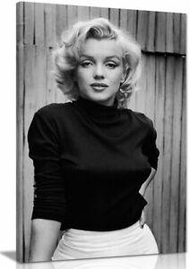 Black & White Marilyn Monroe Fashion Shoot Canvas Wall Art Picture Print