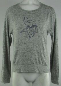 Minnesota Vikings NFL Women's Gray Pullover