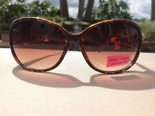 BETSEY JOHNSON  SUNGLASSES BJ 6041P 063 TORTOISE BROWN HEART  NWT