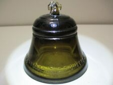 Vintage Telephone Pioneers of America Glass Bell Paperweight Brown 1987