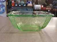 Depression Glass Indiana Glass Co. Lorain Basket ☆ Green ☆ Master Berry Bowl