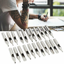 22PCS Stainless Steel Tattoo Nozzle Tips Set Professional Tattoo Machine Needles