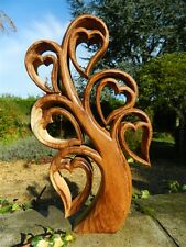 Wooden Love Heart Carving - Heart Tree - Tree of Life