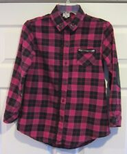 Disney's Shake It Up Girls Plaid Button Down Top Sz Large