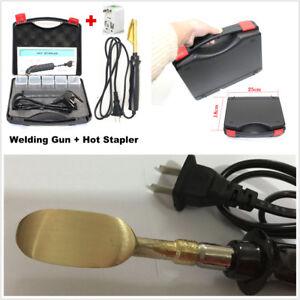 Car Bumper Repair Kit Hot Stapler+Welding Machine&Smoothing Iron+200Pcs Stapler