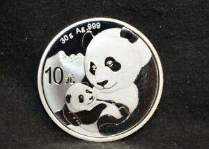 2019 Chinese Panda 1 oz .999 Silver 10 yuan - Free US Shipping