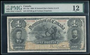 1898 Canada $1 The Dominion of Canada DC-13a Inward 1's Series A-D  PMG VF 25