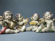 Konvolut von 4 Engel Figuren  Engelgruppe 8 cm Putto  mit Musikinstrumenten