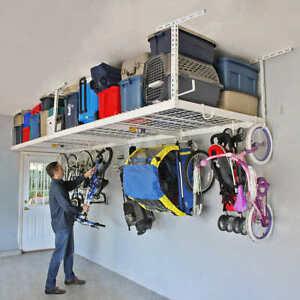 Overhead Garage Storage Combo Kit Organizer Two 4 ft x 8 ft Racks Home Utility
