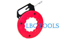 50 ft Steel cable Fish tape Electric Wire Cable Puller in high plastic case