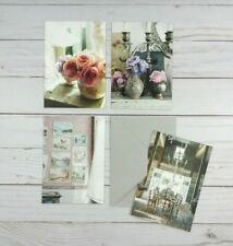 Greeting Note Cards Floral Tablescape 8 Count Blank