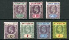 St Vincent 1904-11 short set to 5s SG85/92 MLH/MM - see desc