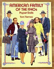 AMERICAN FAMILY OF THE 1940s Paper Dolls Tom Tierney in Full Color Uncut Dover