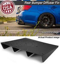 "22"" x 21"" ABS Black Universal Rear Bumper 4 Fins Diffuser Fin Canard For Nissan"
