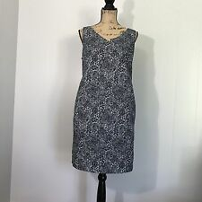 A PEA IN THE POD Black & White Short Summer Print Maternity Dress - Size Large