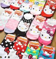 1pair Kawaii Hello Kitty Fashion Cotton Socks Girls Women Birthday Gifts Casual