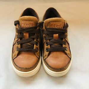 Ugg K Marcus Boys Shoes Sneakers size 10-US Chestnut Brown Shoes