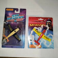 2x VINTAGE 1976 & 1988 MATCHBOX ENGLAND SKY-BUSTERS SB 19 PIPER COMANCHE LESNEY