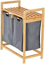 ToiletTree Products Bamboo Laundry Hamper with Dual Compartments – Two-Sections