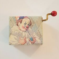 Mini Vintage Hand Wind Crank Clown Music Box Japan Jingle Bells Hi-Lili Hi-LO