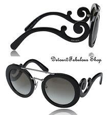 Prada SPR 13S 1AB-0A7 Black Grey New Sunglasses Authentic