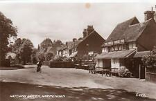 Hatching Green White Horse Inn Pub Harpenden RP old pc used 1947 Valentines