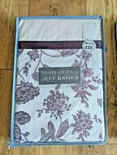 NEW Jeff Banks Ports of Call Single Duvet Set Botanical Jacquard RRP £55