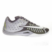 Nike Men's Hyperlive Flywire-Fibres Grey Low Top Trainers with Swoosh Logo