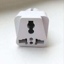 3X White Travel Adapter AU-USA-UK to EU Pin Converter Power Plug Converter