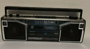Vintage 1980's GE Am/Fm Sterero Cassette Recorder Boombox 3-5622B FULLY TESTED