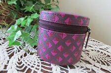 Vera Bradley small hard shell ZIP ARound Travel Jewelry Case-NWOT- purple/PINK