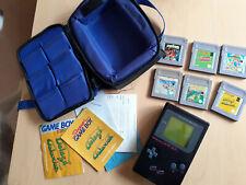 Superb Original 1989 Nintendo GAMEBOY Game Boy DMG-01, 6 GAMES BAG FULLY WORKING