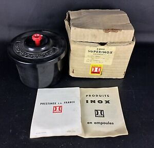 """Vintage cuve Devellopement photo argentiques """" Superinox"""" Par Inox"""