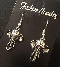 Indian Elephant Pendientes de Plata del Encanto Bohemio Ganesh Animal África Vintage * Reino Unido *