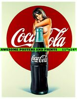 "MEL RAMOS Lola Cola I - Coca Cola Advertisement Poster REPRINT 11""x14"""