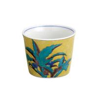 Old Kutani design Teacup - Rhodea japonica - ceramic Yunomi w box