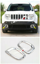 ABS Chrome Outside Front Fog Light Cover Trim 2pcs for Jeep Renegade 2015-2018