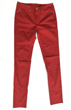 Tommy Hilfiger Slim Leg 'ROME' Regular Red Jeans W26 L32 NEW RRP $219 Womens