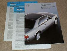 Mercedes 230 CE & 300 CE W124 Coupe Brochure Set - 1987-1988 - 230CE 300 CE