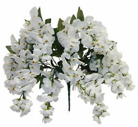 White Wisteria Bush Vines Silk Flowers Wedding Arch Hanging Backdrop Centerpiece