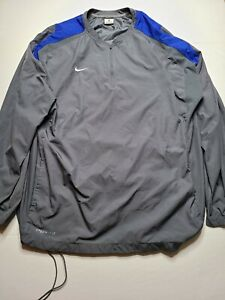 Nike Storm Fit Men's Windbreaker Jacket LARGE Gray Blue Running Mesh Trim