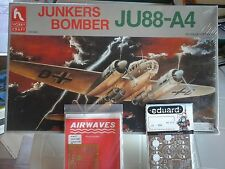 JUNKERS JU 88 A4 BOMBER 1/48 SCALE HOBBY CRAFT MODEL+N.2 PHOTOETCHED PARTS EDUAR