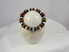 Armband aus Karneol, Onyx u. Süßwasserzuchtperlen, 20 cm