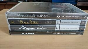 Criterion Collection Lot Of 4 DVDs salesman, black stallion, Chaplin, ice storm