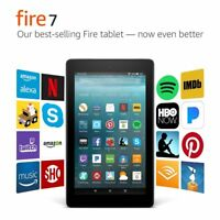 "Amazon Kindle Fire 7 Tablet 8gb 7th Generation 2017 Release With Alexa 7"" Black"