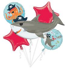 Amscan Shark Pirate Balloon Bouquet 5 Foil Balloons