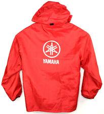 Yamaha Men's Red Fleece Lined Full Zip Reversible Hooded Jacket Size Large Long