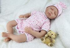 NEW! Newborn Baby Doll  22'' Reborn Handmade Real Looking Sleeping Realistic UK