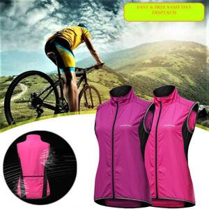 Frauen Radfahren Windbreaker Windstopper Fahrrad Mountainbike Jersey Weste DE